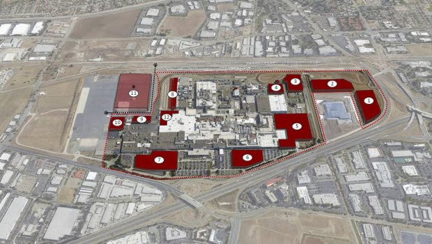 Tesla is currently building an automated storage and retrieval facility atthe north end of the factory. Fremont city planners say the structure is occupying space roughly between section 9 and 12 on the above master plan image provided to the city by Tesla in 2016. Another similar facility is planned for the south end of the factory, and a logistics site that fronts Kato Road is set to occupy section 1 on the above image. (Image courtesy Tesla master plan document)