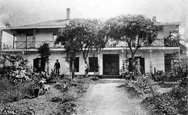 EL CERRITO HISTORICAL SOCIETYVictor Castro at his adobe home that once stood where El Cerrito Plaza is today.