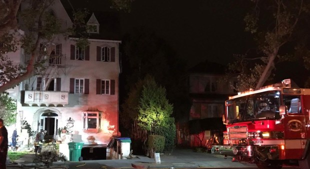 Seven people were displaced early Sunday after a fire at an apartment building in the 2500 block of Central Avenue. (Alameda Fire Deprtment)
