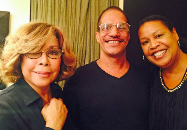 Diahann Carroll, left, poses with hairstylist Michael Brinn, middle, andDiscover Bay makeup artist Judith Twine Brinn, right.