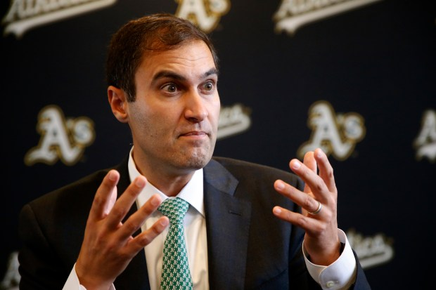 Oakland Athletics President David Kaval is photographed on Wednesday, Sept. 13, 2017, in Oakland, Calif. (Aric Crabb/Bay Area News Group)