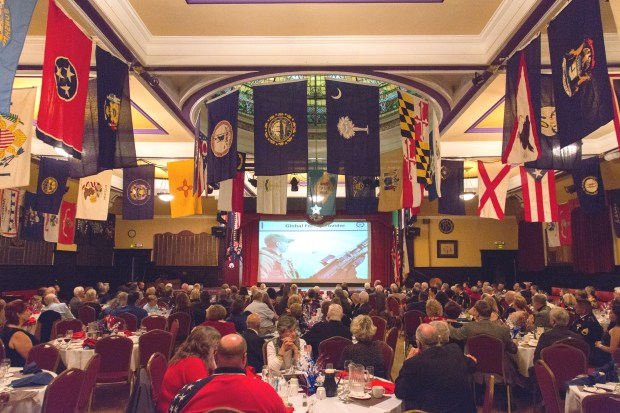 On Nov. 11, the Alameda Elks celebrated this year's Veterans Day with what has become its traditional dinner, with respects paid to veterans and current members of all branches of the service -- the U.S. Army, Navy, Marines, Air Force, Coast Guard and Merchant Marine.(Courtesy of Clayton J. Mitchell Photography)