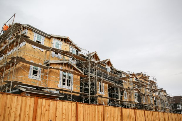 Homes in various stages of construction and completion are visible on theconstruction site of the the Trumark Companies development known as Glass Bay at the western edge of Newark on Nov. 13, 2017, where the city has approved multiple developments of hundreds of homes. (Joseph Geha/The Argus)