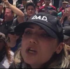 Police are seeking information on this protester in connection with an incident at an Aug. 27 rally. (Berkeley Police Department)