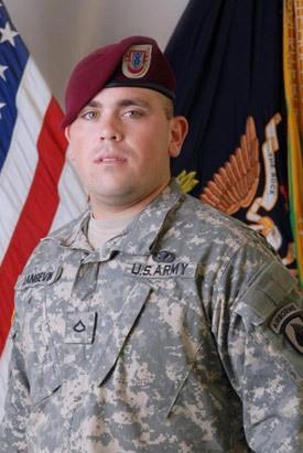 U.S. Army paratrooper Cpl. Sean K.A. Langevin. (Courtesy of Roxane Langevin)