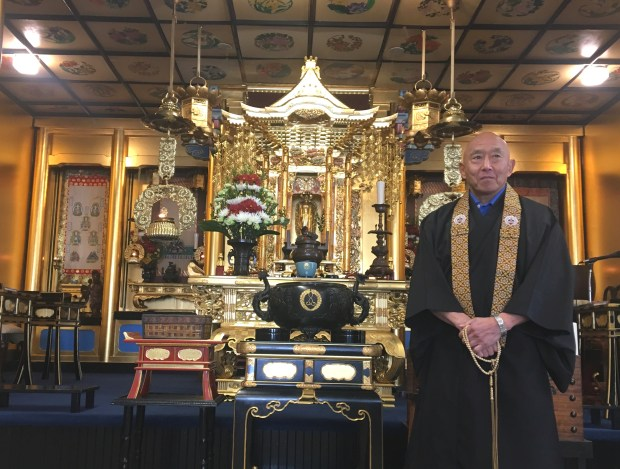 """It's an adventure for me to come here and I'm enjoying exploring a lot of the history in Alameda,"" says Rev. Joshin Dennis Fujimoto, the new resident minister at the Buddhist Temple of Alameda. (Sarah Tan/For Bay Area News Group)"