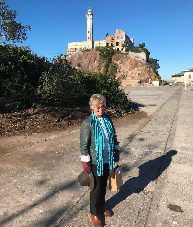 Oakland author Jolene Babyak lived on Alcatraz twice when her father worked there -- once in 1954-55 when she was 7 to 9 years old and again in 1962 when she was 15. (Ginny Prior/For Bay Area News Group)