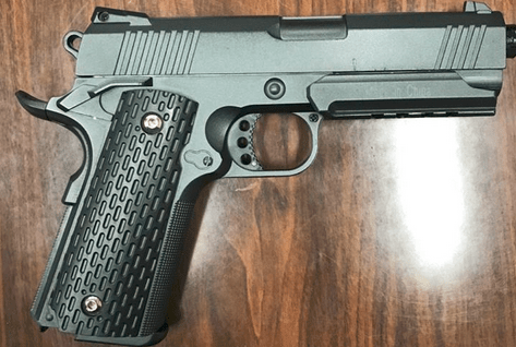 A student suspected of bringing this replica gun to the Richmond High School campus was arrested Friday morning, police said. (Richmond Police Department)