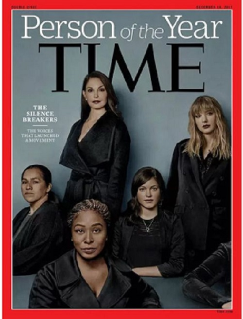 The 2017 Time magazine Person of the Year cover Source: Time Magazine