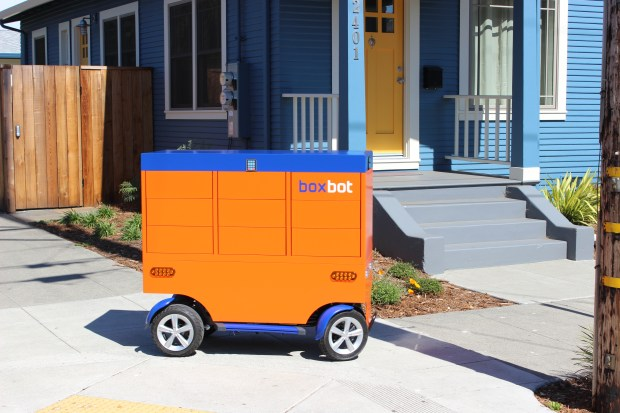 """This is a typical Boxbot """"robot,"""" and ones like this will likely hit the streets of Walnut Creek in the next month or two."""