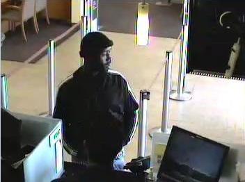 Surveillance cameras inside Wells Fargo Bank, 3402 Camino Tassajara, capture a robbery suspect seen on Feb. 13, 2018, Danville police said.