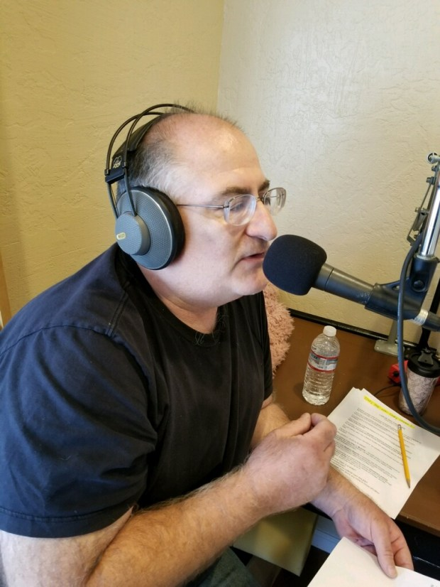 Chris Ponsano, general manager of Oakley's KLSN 92.9 Community Radio station. (Charleen Earley)