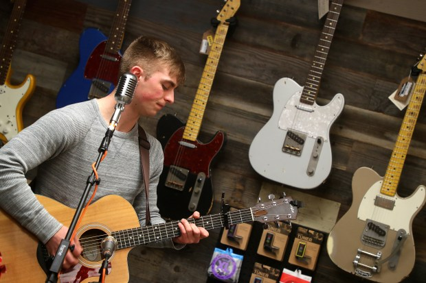 Musician Carson Dowhan performs in Up The Creek Records on Wednesday, Jan. 31, 2018, in Walnut Creek, Calif. (Aric Crabb/Bay Area News Group)