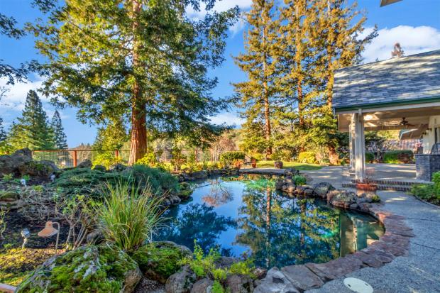 The backyard is an oasis and backs up to a greenbelt that provides privacy.