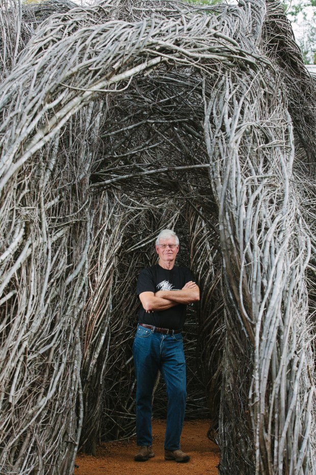 Bedford GalleryRenowned sculptor Patrick Dougherty will create an interactive artistic environment of willow saplings in Walnut Creek's Civic Park starting May 8 thanks to a grant from the National Endowment for the Arts to Bedford Gallery.