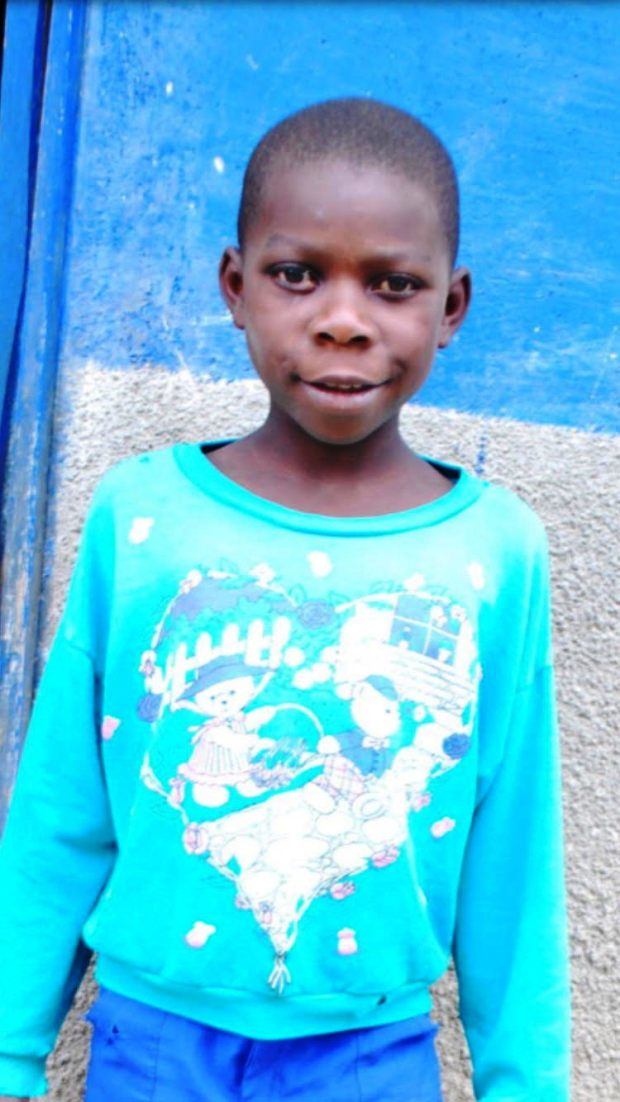 This is a photo of Ugandan orphan Mumbere Samuel, the subject of an art project by Piedmont High School student Olivia Wiebe. (Courtesy of Olivia Wiebe)