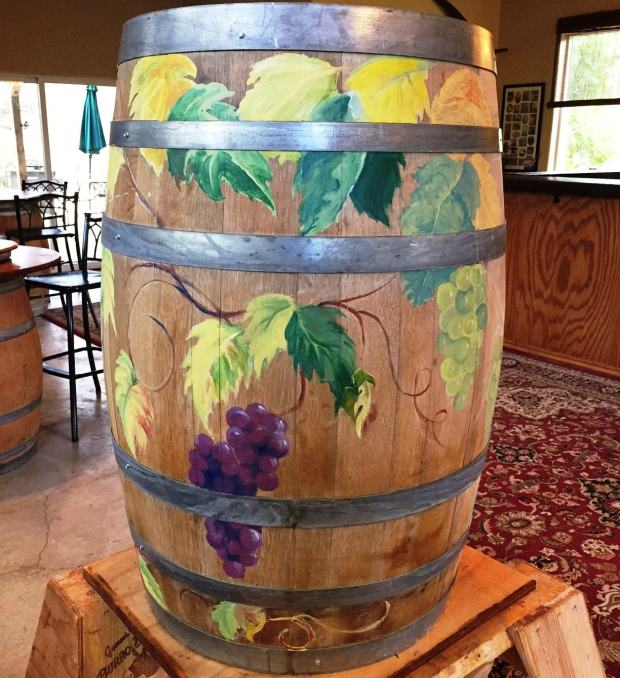 Charles R. VineyardCharles R. Vineyard's participating barrel in the Trail of Painted Barrels event for the Livermore Winegrower's Association's Barrel Tasting Weekend is shown.