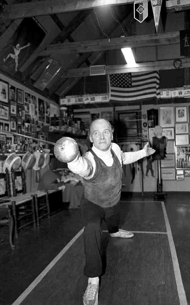 West Coast Fencing ArchiveCharles Selberg (1930-2012), seen here in the late 1980s or early 1990s began to make a name for himself under the watchful eye of coach Erich Funke at San Francisco State and later moved on to teach at UC Santa Cruz, where he was well received.