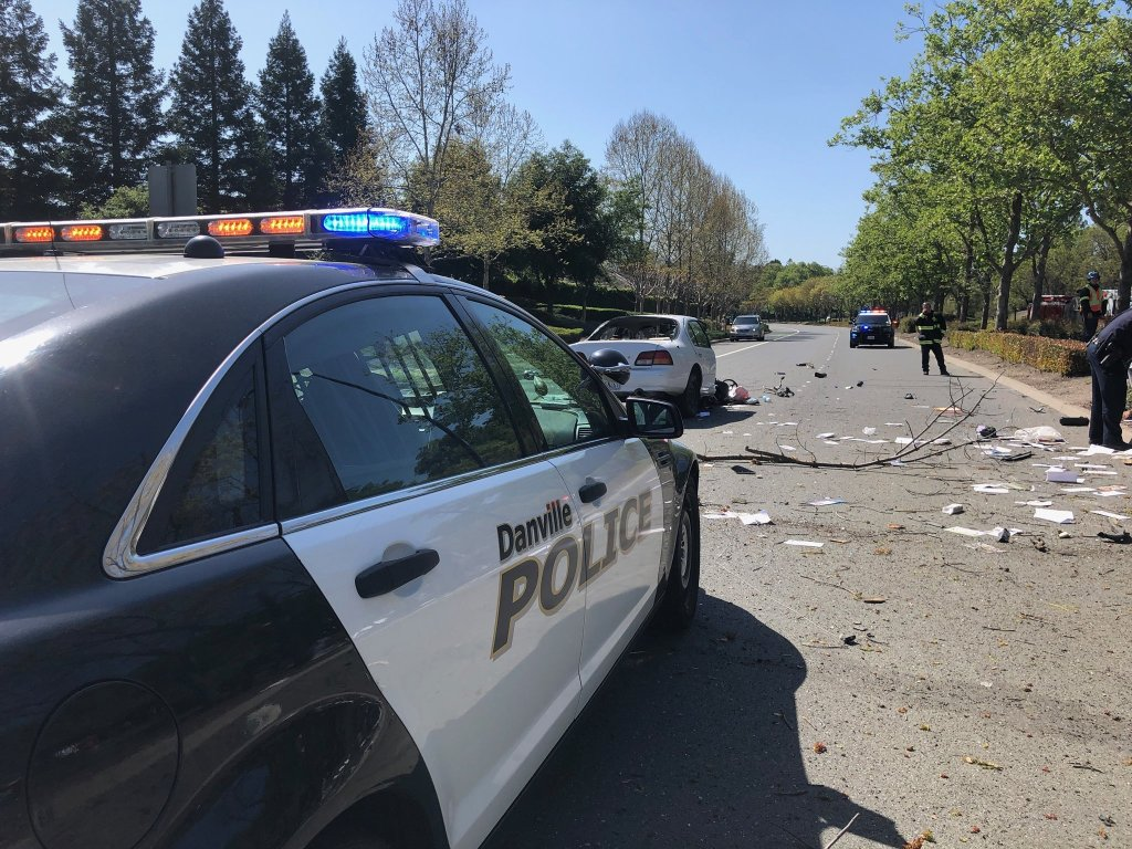 Danville police chase ends with crash and Milpitas man's ...