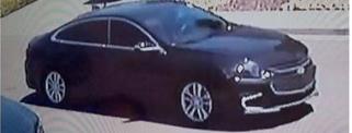 This black sedan was linked to two Sunday burglaries in Hercules, police said.