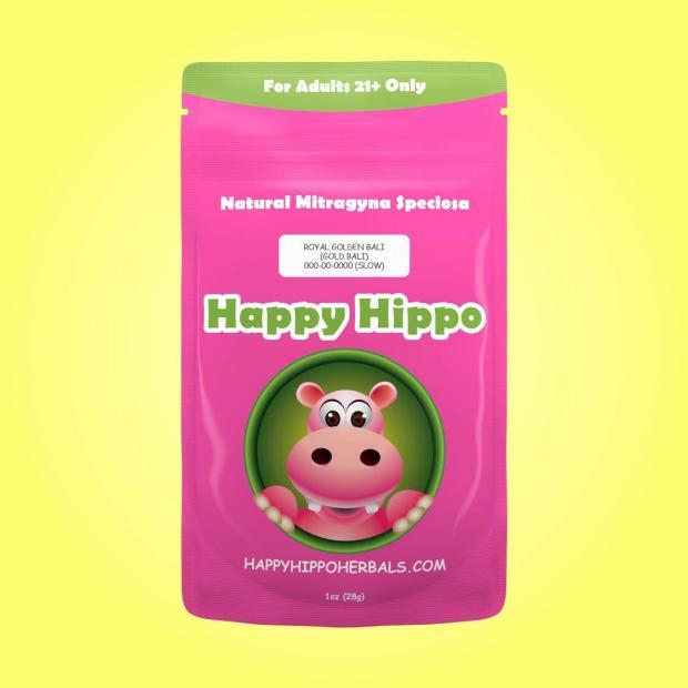 Happy Hippo Herbals Yellow Bali Gold Kratom Powder