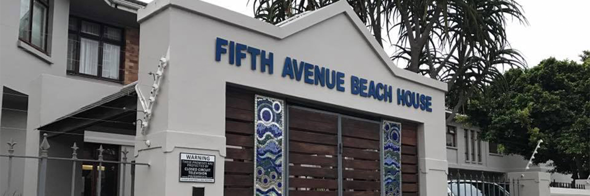 8 Day Eastern Cape Beach & Safari Package Fifth Avenue Beach House Entrance
