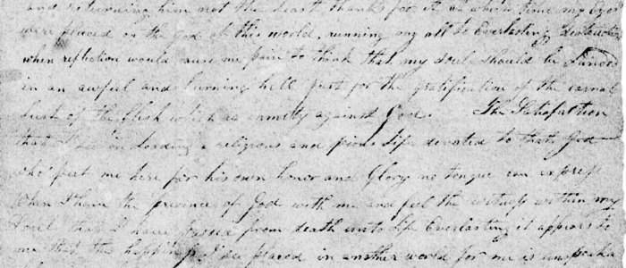 Letter from Turner Nelson to James Roach – 1825
