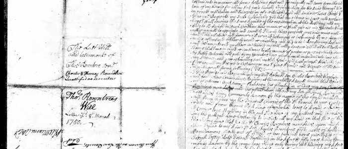 Will of Thomas Rountree (Chowan County) – 1748