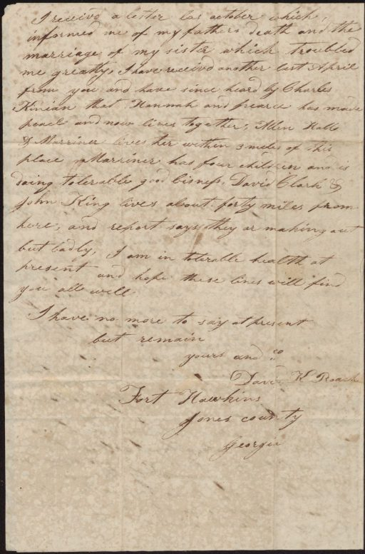 David Roach letter p2