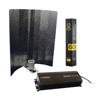 Omega - Eurowing 600W Black Light Kit including Reflector, ballast and lamp