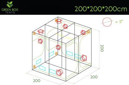 Green Box Tent 200x200x200 2