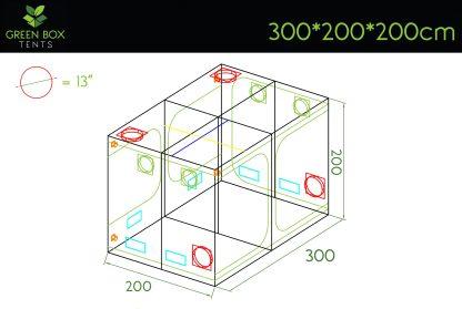 Green Box Tent 300x200x200 1