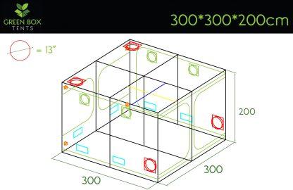 Green Box Tent 300x300x200 1