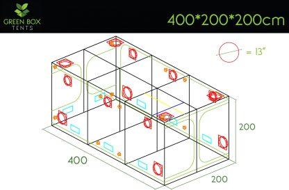 Green Box Tent 400x200x200 1
