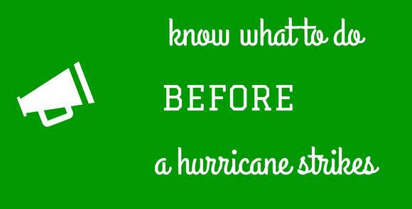 Hurricane prep banner