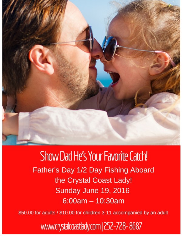 Half-Day-Father's-Day-Fishing-Beaufort, Beaufort-Fishing, Fishing-In-Beaufort-NC, Crystal-Coast-Lady, Crystal-Coast-Lady-Cruises, Crystal-Coast