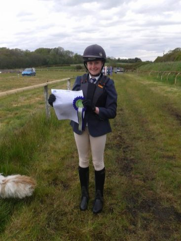 2nd place Dressage rider Helen Taylor 170512 - Classes sponsored by Hacks Tack Shop Saltash