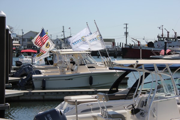 Port of Egypt's Grady-White sportfishing boat brigade. They sell more Grady-Whites than just about any other dealer around. That's really cool if you know how to catch a fish.