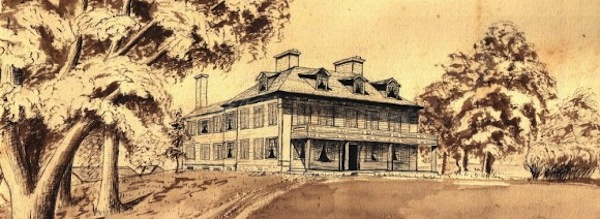 The Sylvester Manor house circa 1870
