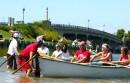 Bryan Boyhan sends off another fleet into a heat by the Sag Harbor bridge Sunday afternoon