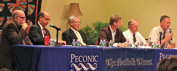 Candidates for Southold Town Trustee debated earlier this week at Peconic Landing in Greenport