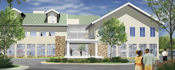 An artist's rendering of the proposed Family Community Life Center