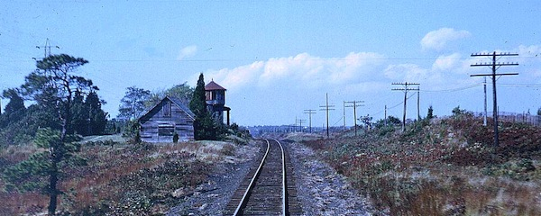 The Shinnecock Hills train station in the 1960s.