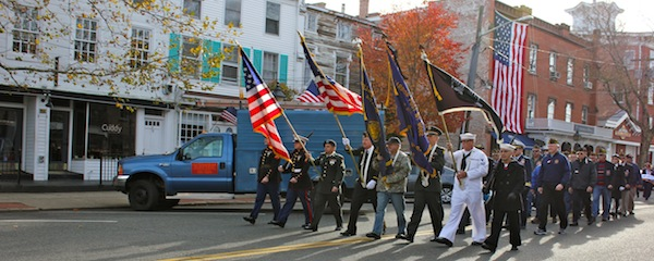 Veterans march in Sag Harbor on Monday