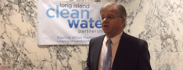 State Assemblyman Fred Thiele discusses the need for a clean water bill in Albany Tuesday | Courtesy Long Island Clean Water Partnership