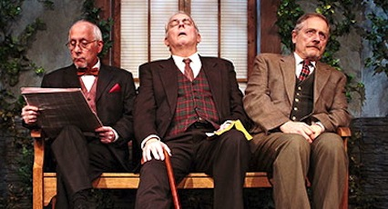 These three guys could be heroes, if just for one day. (Left-right) George Loizides as Philippe, Cyrus Newitt as Henri and Tom Gustin as Gustave | Courtesy Hampton Theatre Company
