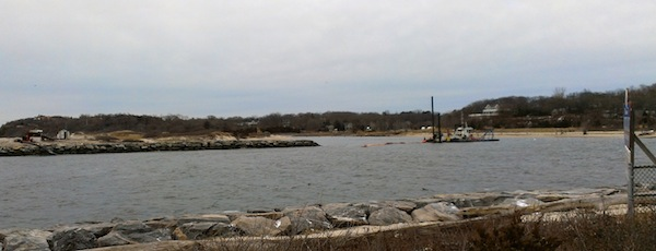 The Mattituck Inlet dredge crew continued work this week.