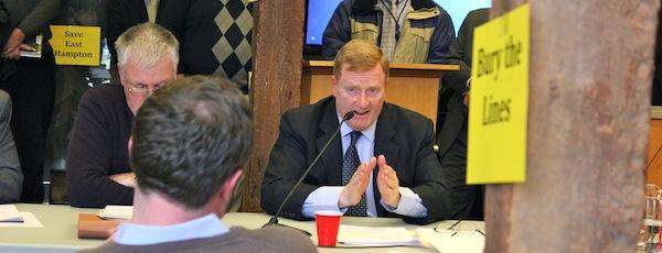 PSEG President David Daly at a recent meeting in East Hampton
