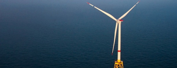 An artist's rendering of one of Deepwater Wind's turbines.