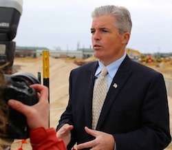 County Executive Steve Bellone spoke with reporters in Westhampton on Tuesday | Courtesy photo